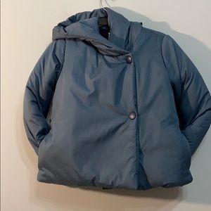 Hanna Andersson Sz 140 Blue Hoodie Coat So Nice!
